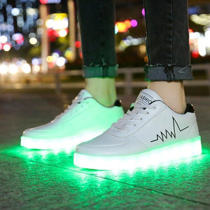 Bright Led Shoes Women's USB Charging Light Up Luminous Women Sneakers for Weman Glowing Sneakers with Light Unisex Luminous Female Bright Led Shoes - LightUpLedShoes