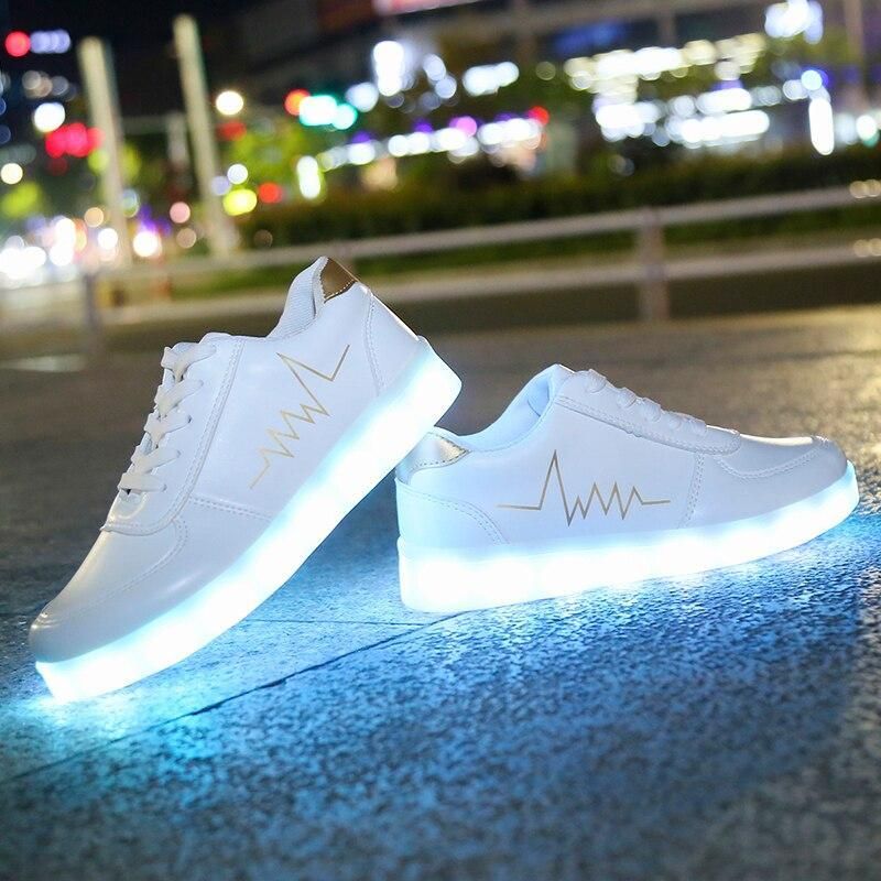 Light Up Led Shoes Men's USB Charging Bright Luminous Sneakers for Men Glowing Sneakers with Light Men Luminous Led Shoes Male Light Sneakers - LightUpLedShoes