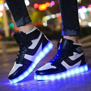 Led Light Up Shoes Women's USB Charge Women Luminous Sneakers Female Led Shoes Glowing Lighted Up Shoes With Lights Bright Casual Shoes - LightUpLedShoes