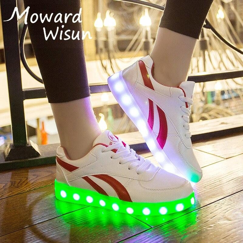 Led Sneakers USB Charge Women's Luminous Light Up Shoes for Female Glowing Lighted Up Shoes With Lights Bright Casual Women Shoes - LightUpLedShoes