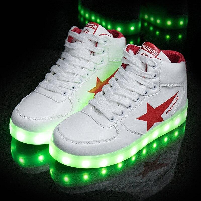 Men Led Light Up Shoes Men's USB Charge Male Luminous Sneakers Led Shoes Glowing Lighted Up Shoes With Lights Bright Casual Men Shoes - LightUpLedShoes