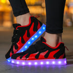 Boys Girls Light  Led Shoes USB Children Glowing Sneakers Lighted Shoes Canvas Light Glowing Shoes Luminous Sneakers Boys Girls Krasovki Bright Shoes