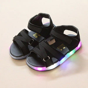 Summer Beach LED Kids Shoes Glowing Lighted Boys Girls Shoes Breathable Cute Sandals Luminous Summer Glowing Shoes High Quality Children Sandals