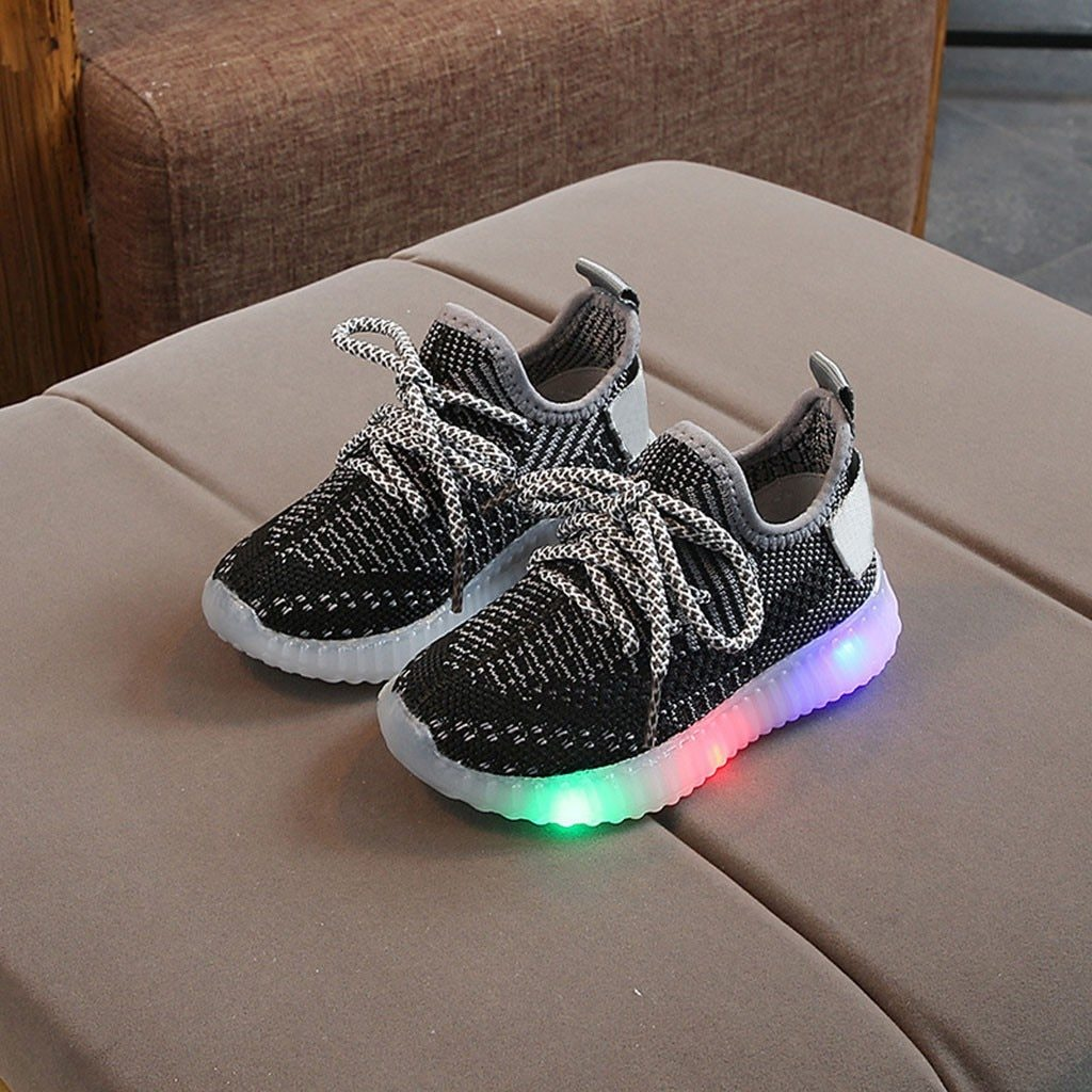 Toddler Boy Led Sneakers Children Baby Boys Mesh Light Up Led Shoes Luminous Running Sport  Bright Sneaker Shoes Chaussure Lumineuse Pour Garcon - LightUpLedShoes