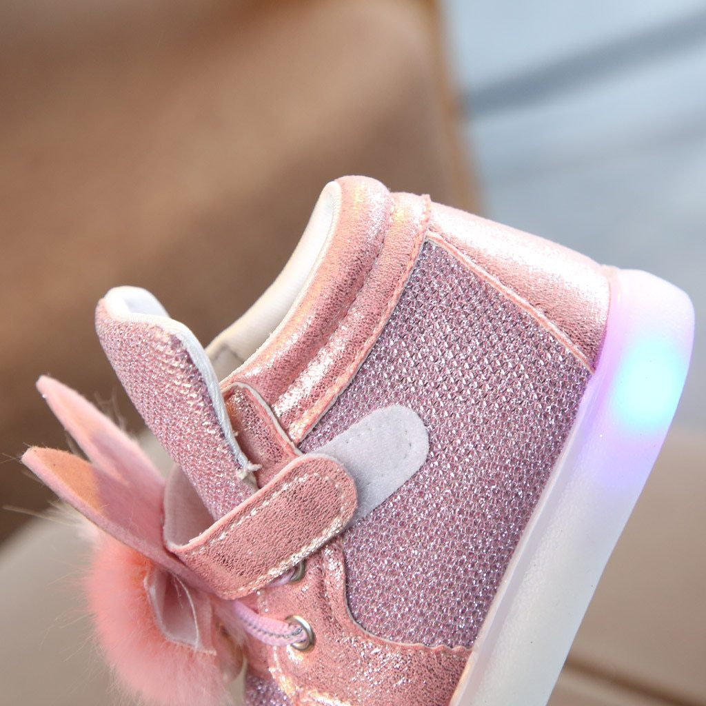 Toddler Infant Kids Baby Girls Cartoon Rabbit LED Luminous Sport Kids Led Shoes Sneakers Sapato Infantil Light Up Shoes Children Bright Sneakers - LightUpLedShoes