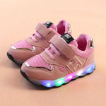 Toddler Kids Mesh Led Shoes Children Baby Shoes Light Up LED Shoes Luminous Sneakers Baby Schoenen Meisje New Born Baby Bright Shoes - LightUpLedShoes