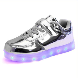 Light Up Led Shoes for Child USB Chargering Toddler/Little Kids/Big Kids Bright Sneakers Light Up Shoes for Boys/Girls Glowing Christmas Sneakers - LightUpLedShoes