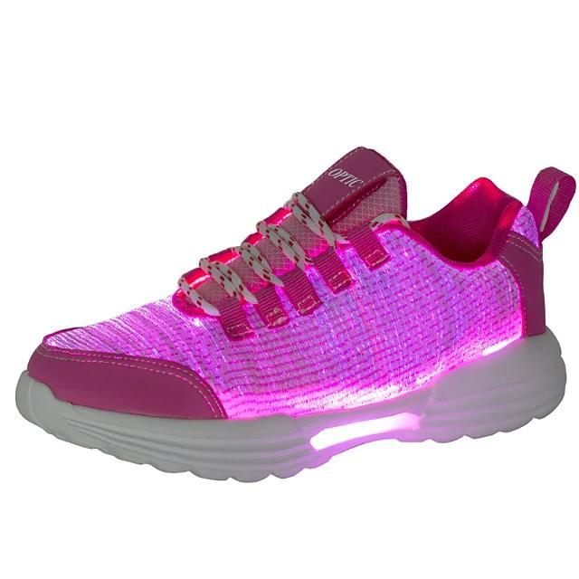 Women's Led Light Up Shoes Mesh Elastic Fabric Sporty LED Casual Athletic Shoes USB Charging Bright Luminous Sneakers Led Bright Sneakers Breathable - LightUpLedShoes