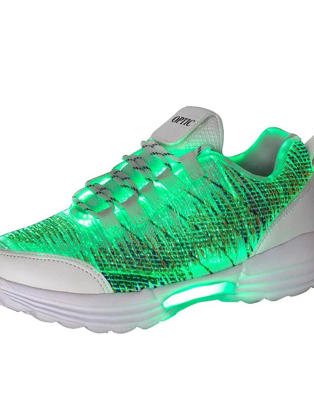 Men's Light Up Led Shoes Mesh  Elastic Fabric Spring Summer Fall Winter Sporty Male LED Casual Athletic Shoes Running Led Bright Sneakers Breathable - LightUpLedShoes