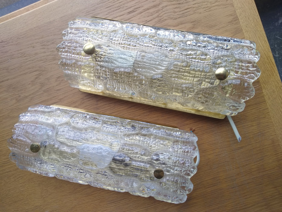 Pair of Danish Glass Sconces
