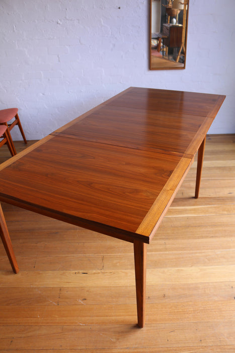 (Sold) Swedish Walnut Dining Table