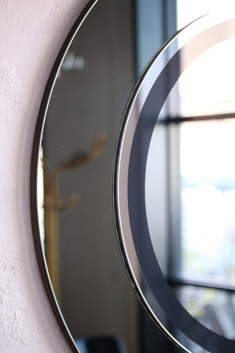 (SOLD) Round Italian Mirror Black
