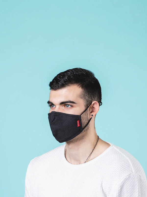 Assorted Colors Cotton Reusable Face Mask with PM2.5 carbon filter
