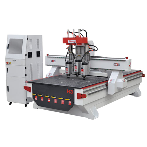 Three Spindles automatic change 4'x8' CNC Wood Router For Wood Cabinet and MDF Door making - OSAIN CNC Router