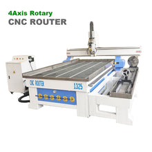 Load image into Gallery viewer, 4 axis CNC wood Router 4x8 with 5HP water cooling spindle 24000RPM - OSAIN CNC Router