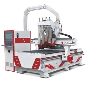 four heads 4x8 cnc router for kitchen cabinet making - OSAIN CNC Router