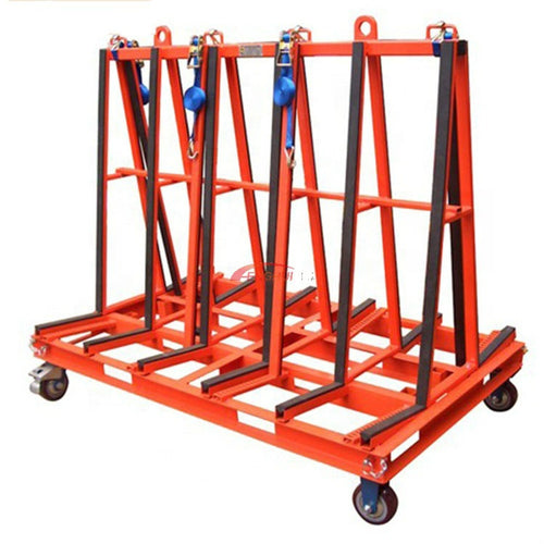 Shockproof shelf Glass transport trolley Stone handling trolley - OSAIN CNC Router