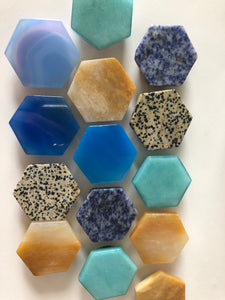 Hexagon Crystal Pop Sockets