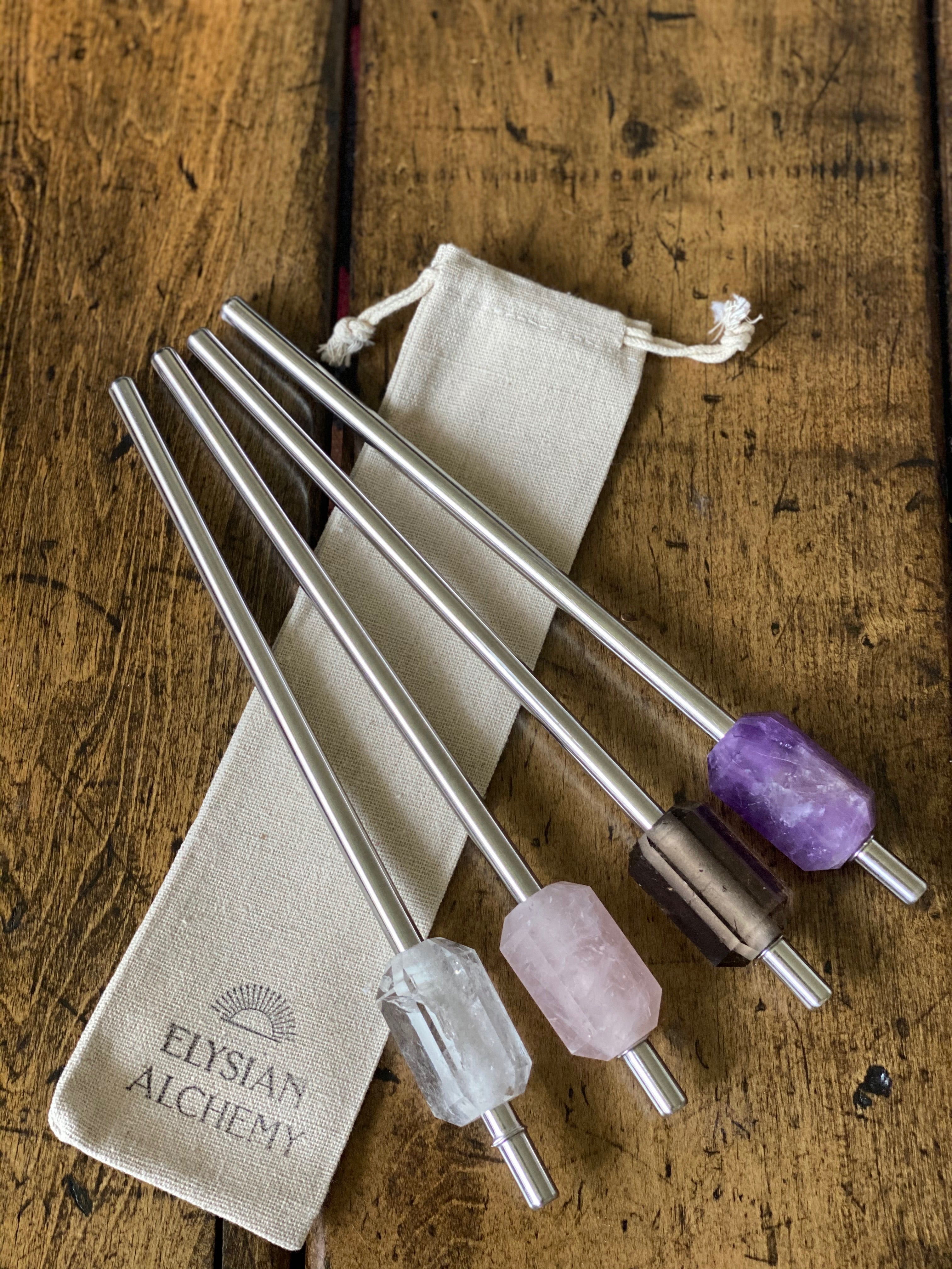 Reusable Crystal Drinking Straws