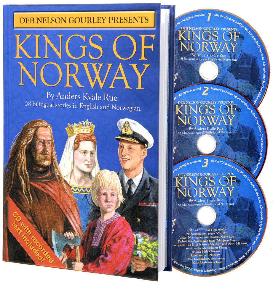 Kings of Norway bilingual book includes 3 audio CDs - Anders Kvåle Rue