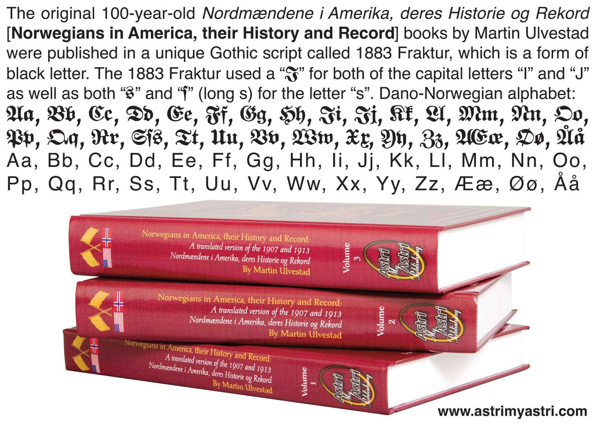 Norwegians in America (1825-1913) Gothic Script books now in ENGLISH!