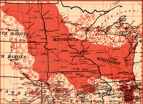 Map Of Us In 1870.History Of The Norwegian Settlements Midwest Usa Immigrants 1830