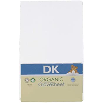 Dk Organic Glovesheet, Cot. To Fit Mattress: Approx. 120cm X 60cm.white