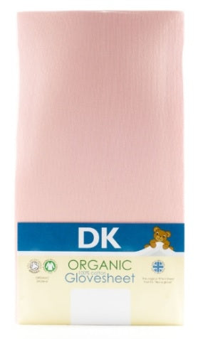Dk Organic Glovesheet, Cot Bed. To Fit Mattress: Approx. 140cm X 70cm. Pink