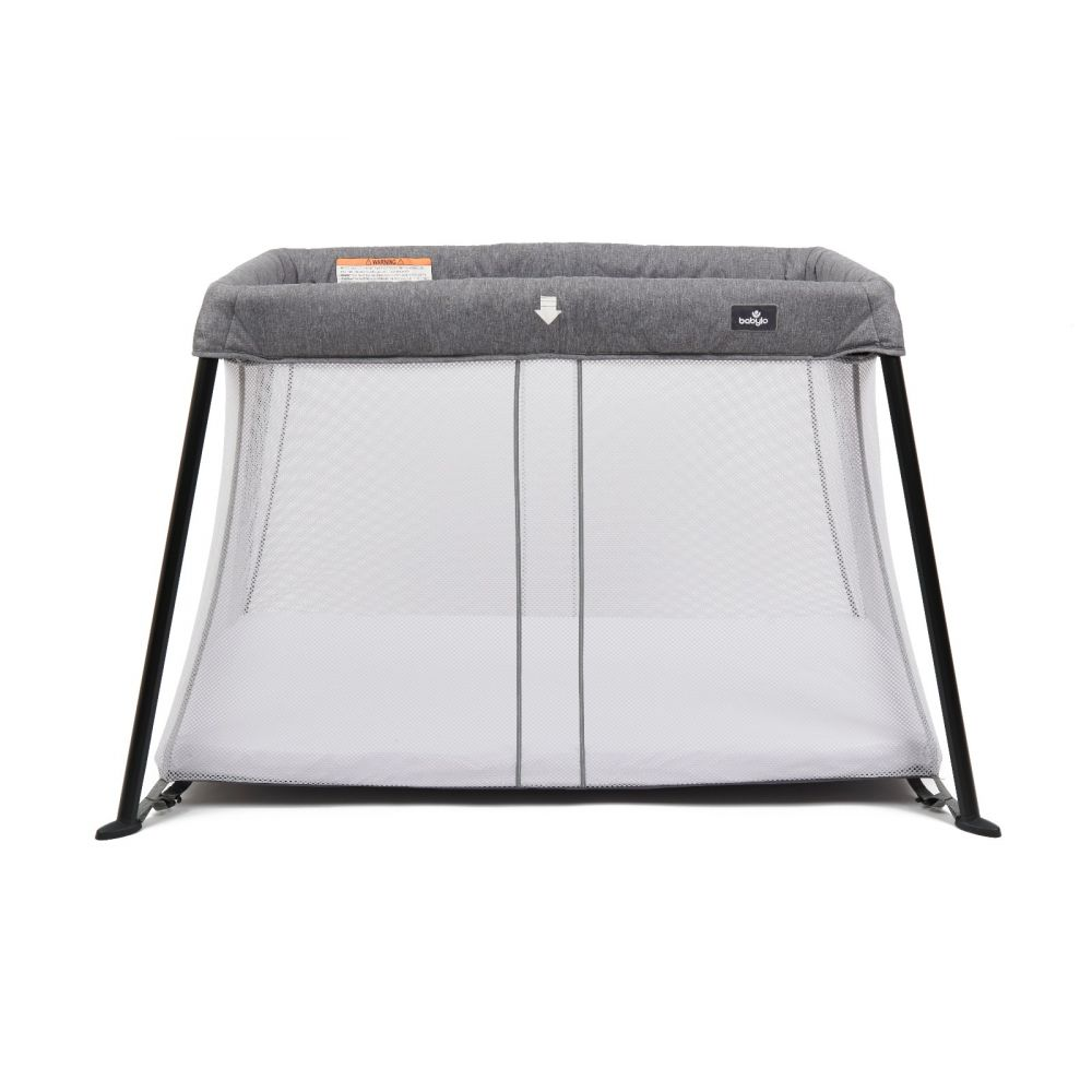 Babylo Liteway Travel Cot & Fitted Sheet Grey Melange