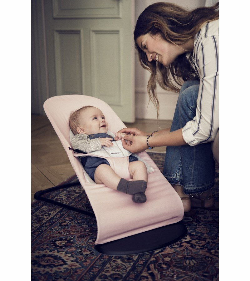Babybjorn 2019 Bouncer Balance Soft Light Pink/grey Cotton/jersey