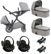 Nuna Demi Grow Twin Package With BeSafe Izi Go - Frost