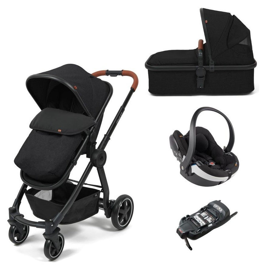 Babylo Cloud XT Black With Besafe Izi Go Modular & Isofix Base