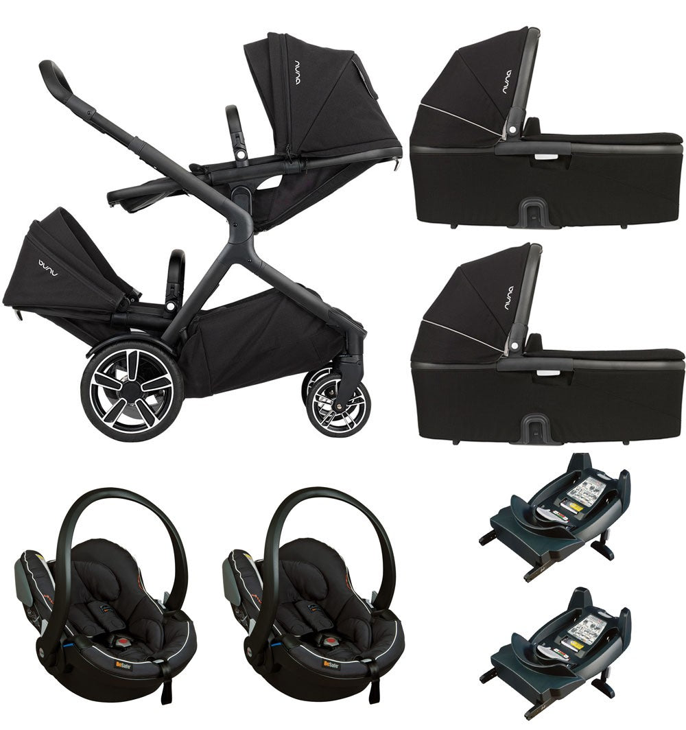 Nuna Demi Grow Twin Package with Besafe izi Go - Caviar