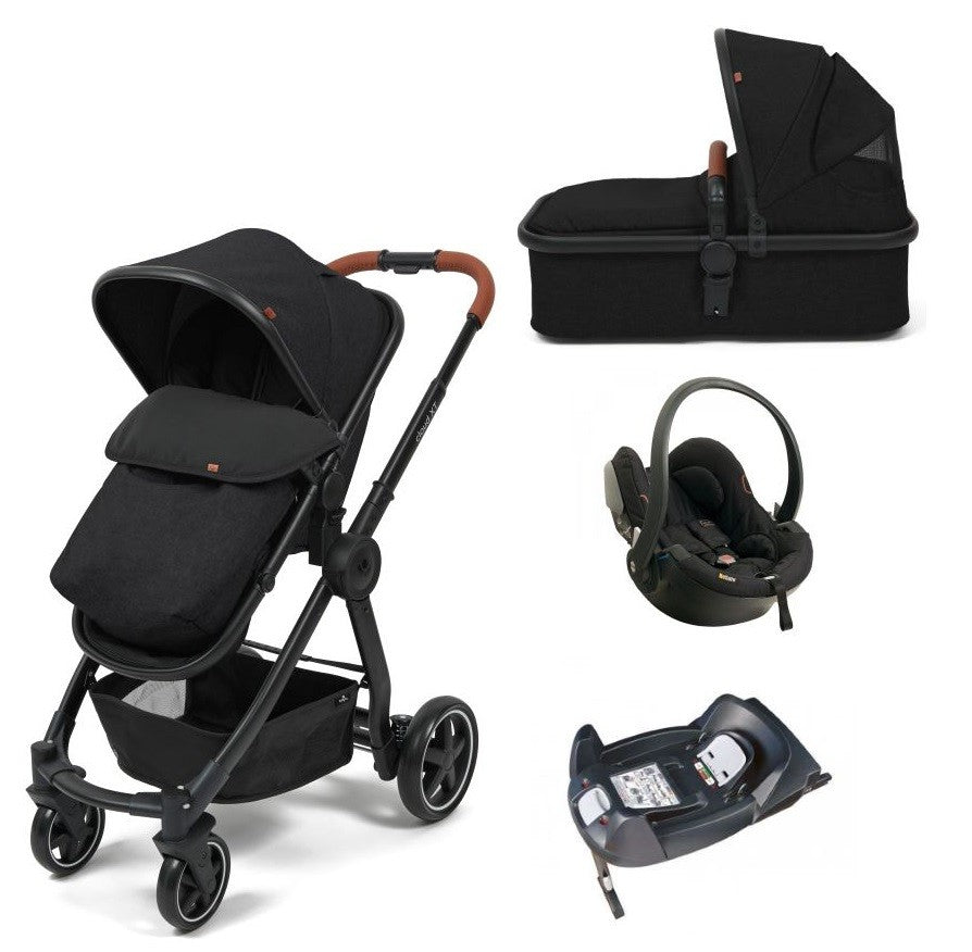 Babylo Cloud XT Black With Besafe Izi Go & Isofix Base