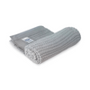 Dk Organic Cotton Cellular Blanket. Pram/crib Size. Grey With Grey Satin Edge.