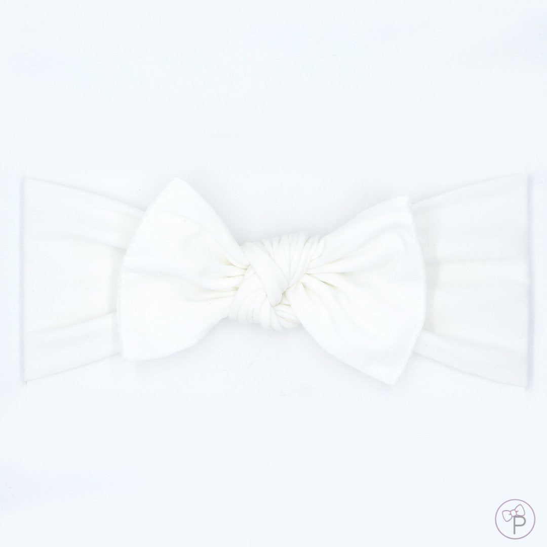 Little Bo Pip - White Pippa Bow Medium