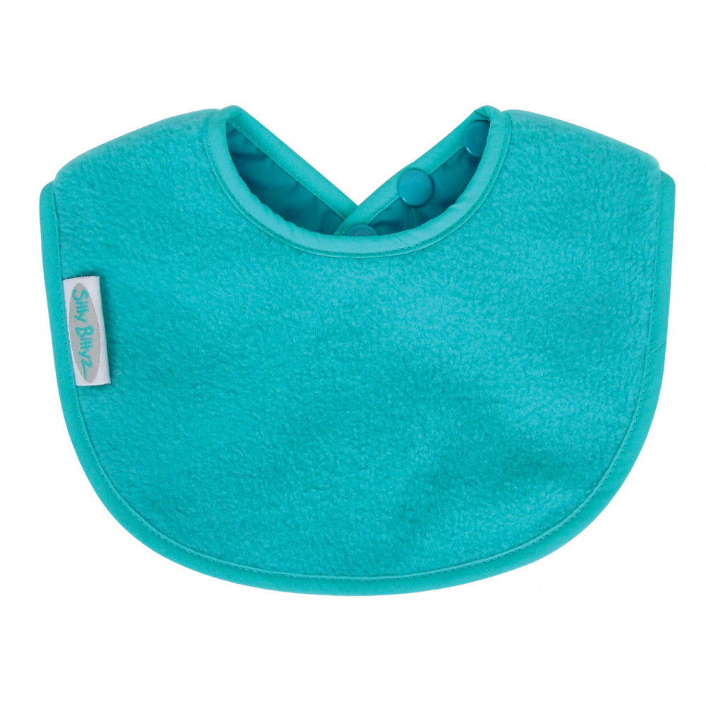 Silly billyz fleece biblet - aqua