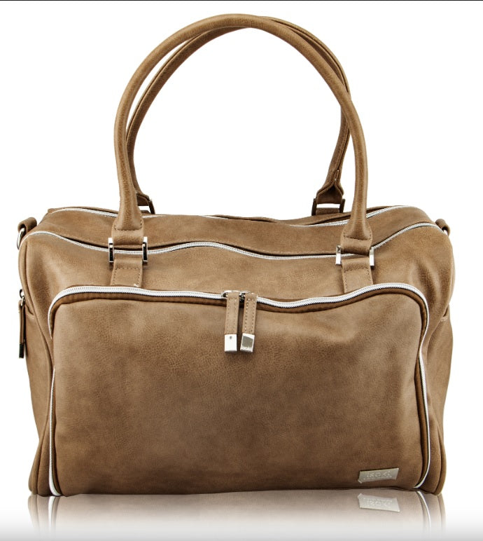 Isoki - Iso Double Zip Satchel- Fawn Latte