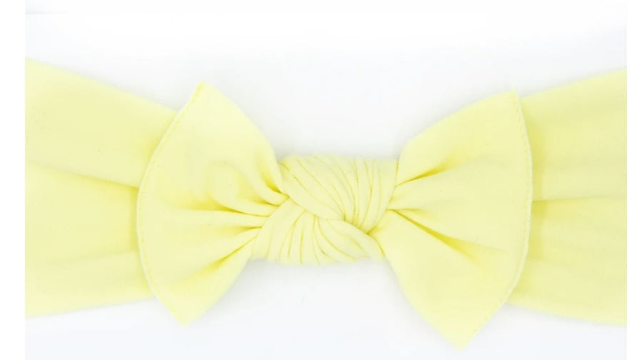 Little bow pip's pippa bow lemon - small