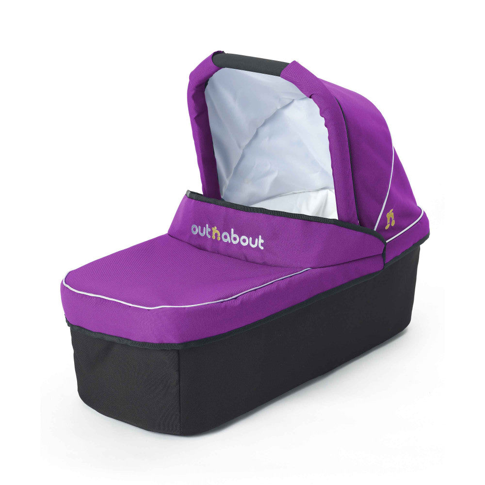 Outnabout - nipper carry cot - purple punch