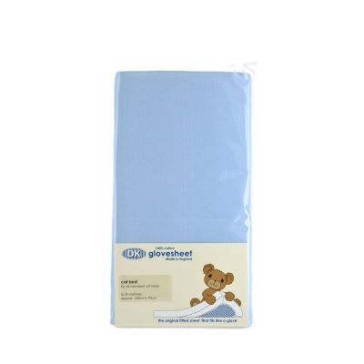 Dk Organic Glovesheet, Cot Bed. To Fit Mattress: Approx. 140cm X 70cm. Sky Blue