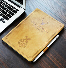 Load image into Gallery viewer, For New iPad 9.7 inch 2017 2018 Air 1 2, Auto Sleep Smart Cover Deer Pattern PU Leather Soft silicone Case with Pencil Holder