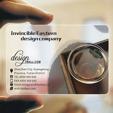 Load image into Gallery viewer, 500pcs Clear Print PVC ID Cards Transparent Plastic Round Business Card Design Calling Waterproof Cards Custom Printing 85*54mm