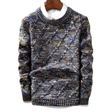 Load image into Gallery viewer, Drop shipping Brand Sweater MenBrand fashion Pullover Male O-Neck stripe Slim Fit Knitting fashion Sweaters Man Pullover