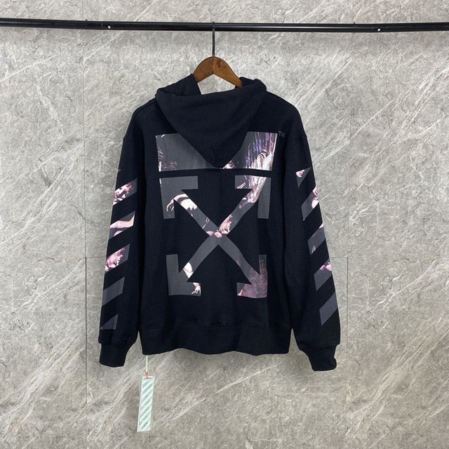 OFF White Religious Oil Painting Print Hoodie Men's Jacket High Quality Men and Women Loose Off White Hoodie