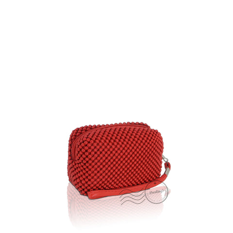 CD2409 - Beads Cosmetic Bag Small - Red