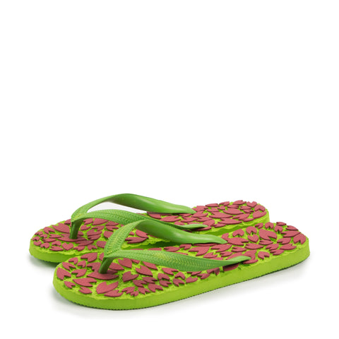 Darling's Unisex Flip Flops Green & Red