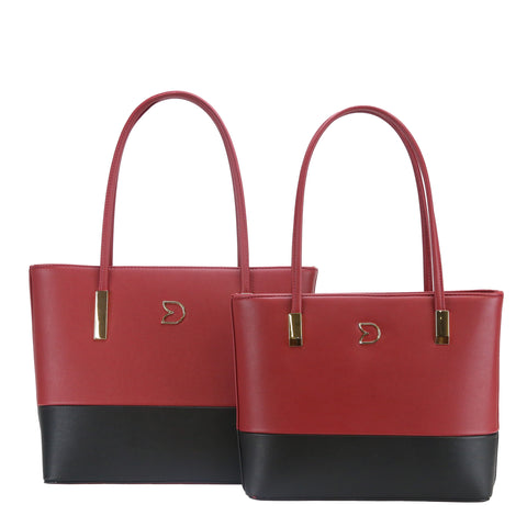GS-0037 - Two Toned 2 Bags Set - 3 Colors