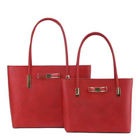 GS-614 - Bowknot Classic 2 Bags Set - 9 Colors