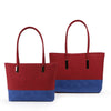GS0037 - Two Toned Bags 2 Set - Red & Blue